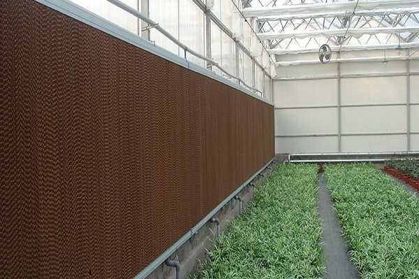 Water Saving Irrigation System for Greenhouse Growing/Cooling