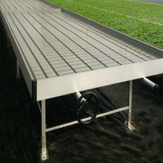 Hot Sale Rolling Benches Ebb And Flood Tray Tobacco Seedbed From China Factory