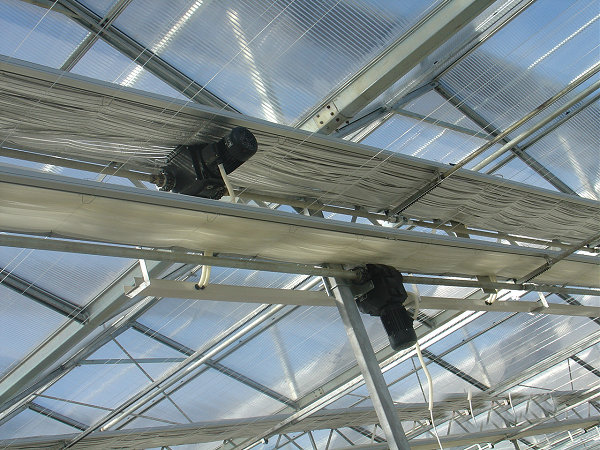 Inside and Outside Shading System for Multi-Span Film/PC/Glass Greenhouse
