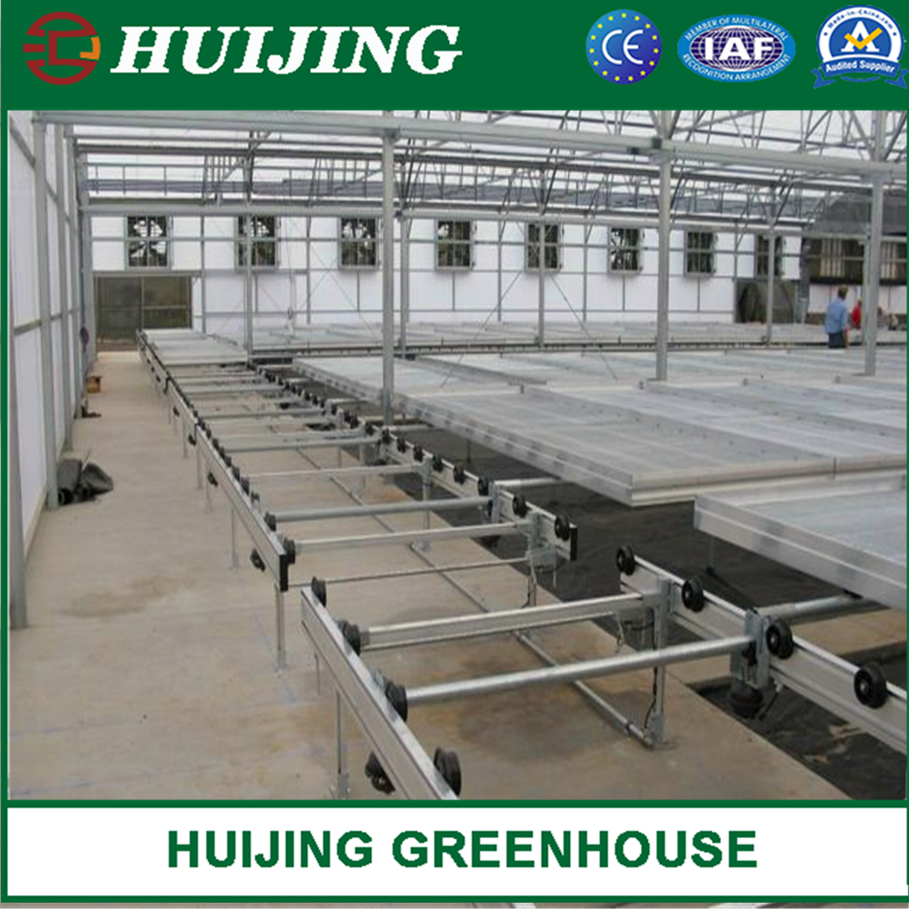 Movable Galvanized Steel Rolling Bench Nursery Seedbed